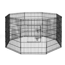 I Pet 36 8 Panel Pet Dog Playpen Puppy Exercise Cage Enclosure Play Pen Fence