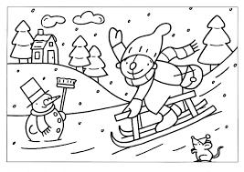 Kleurplaat Pompom Op De Slee Kleurplaten Winter Knutselen Thema