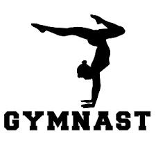 Gymnast Gymnastics Silhouette Sports Vinyl Sticker Car Decal