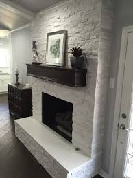 fireplace makeover crystal white