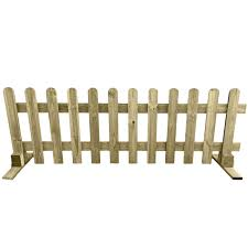 Ruby Portable Freestanding Treated Wooden 6ft Picket Fence Panel 3ft High 2