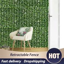 Leaf Hedge Fence Wall Artificial Privacy Screening Roll Garden Artificial Ivy Balcony Odorless Polyester Fiber Blades Privacy Fencing Trellis Gates Aliexpress