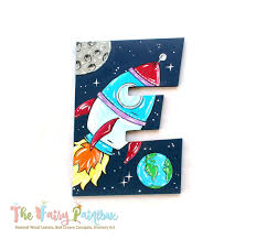Solar System Planetarium Nursery Room Wall Letters Outer Space Kids The Fairy Paintbox