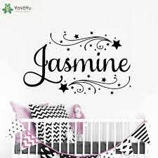 Girls Room Personalized Name Wall Decal Kids Nursery Room Vinyl Wall Stickers For Kids Rooms Girls Name Custom Art Decor Diysy42 Sticker For Kids Room Vinyl Wall Stickerswall Stickers For Kids Aliexpress