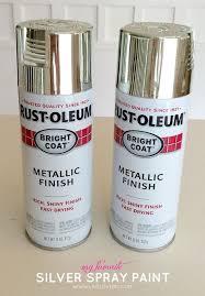 shiny chrome silver spray paint