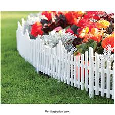 Mdl Set Of 3 Mini White Garden Picket Fe Buy Online In Guernsey At Desertcart