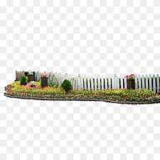 Fence Garden Fences Grass Flower Garden Fencing Png Pngwing