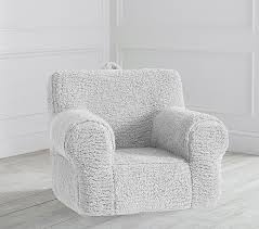 Gray Cozy Sherpa Anywhere Chair Kids Armchair Pottery Barn Kids