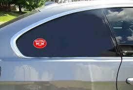 Volleyball Mom Oval Red Sticker U S Custom Stickers