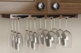 hanging under cabinet wine glass racks