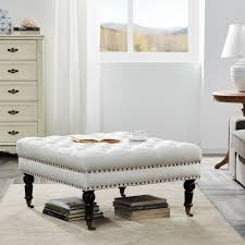 ottoman coffee table bench stool tufted