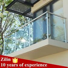 floor mounted glass balcony railing