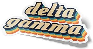 Amazon Com Desert Cactus Delta Gamma 70 S Letter Sticker Decal Greek Tall For Window Laptop Computer Car Dg Toys Games