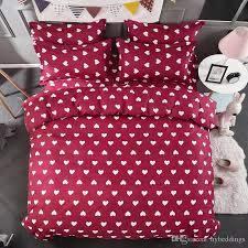 white hearts duvet cover bed set