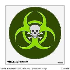 Green Biohazard Skull And Crossbones Wall Decal Zazzle Com In 2020 Custom Wall Decal Wall Decals Skull And Crossbones