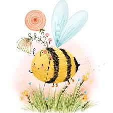 Pin by Adriana Olson on Pinterest collage for Ann@ in 2020 | Bee painting,  Bee illustration, Bumble bee illustration