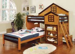 Zoomie Kids Reidar Twin Over Twin L Shaped Bunk Bed With Bookcase And Drawers Wayfair
