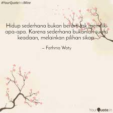 hidup sederhana bukan ber quotes writings by fathma waty