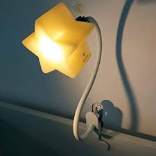 Amazon Com Led Clip On Star Lamp With 4 Brightness Levels For Kid S Room Portable Gooseneck Kids Lamps Perfect For Breastfeeding Reading Safe Eco Friendly Dimmable Night Light Desk Lamp