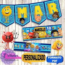 Kit Imprimible Emoji Movie La Pelicula Personalizado 199 00 En