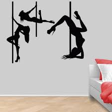Pole Dance Vinyl Wall Decal Striptease Sexy Girls Dancers Dance Room Decor Wall Stickers For Girls Room Decoration Mural Wish