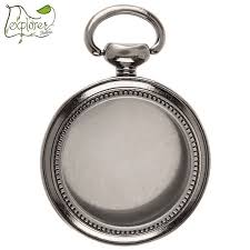 small antique silver empty pocket watch