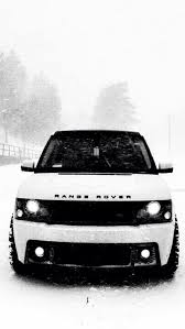 white range rover in the snow iphone 6