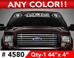 San Francisco 49ers Windshield Decal Sticker 44 X4 Any 1 Color 14 99 Picclick