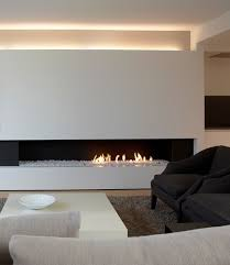 gas fireplace insert with glass shards