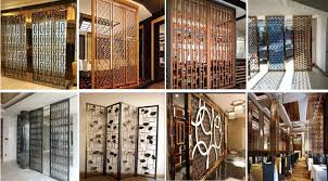 carved screens champagne stainless