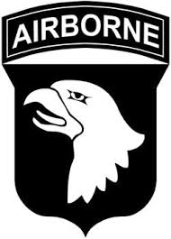 Amazon Com Military 101st Airborne Division Patch Vinyl Car Decal White 5 By 5 Inches Automotive