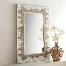 lexi mixed wood mosaic wall mirror