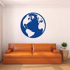 Classic Globe Wall Decal Vinyl Wall Art From Trendy Wall Designs
