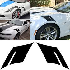 Glossy Side Fender Hash Marks Stripe Decals Stickers For Chevy Corvette Camaro Ebay