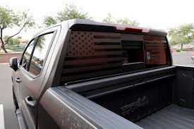 American Flag Rear Window Decal For 19 Silverado Sierra Rakkasan Motorsports