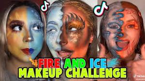 fire ice tiktok makeup challenge i