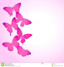 Fondo Con Una Frontera De Volar De Las Mariposas Stock De