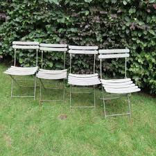 four french folding garden chairs