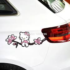Us Seller Hello Kitty Door Handle Sticker Vinyl Decal Pink Black Free Shipping