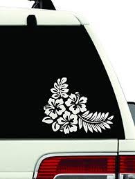 Bumper Stickers Decals Magnets Hawaiian Hibiscus Flower Lips Flip Flops Car Decal Car Sticker Windows 23 Inch Bumper Stickers Decals Magnets