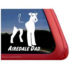 Airedale Dad Airedale Terrier Vinyl Adhesive Dog Window Decal Walmart Com Walmart Com