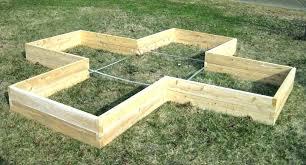 cedar raised bed garden kit 4x4x11