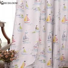 Budloom Sailboat Blackout Curtains For Bedroom Boys Room Curtains Kids Bedroom Window Drapes Baby Room Window Shade Curtains Aliexpress