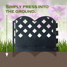 Shop Decorative Fence Resin Garden Edging Set 12 Pack 6 4 Inch X 5 7 Inch Overstock 28730253