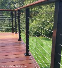 New Deck In Woodsbury Mn Using Customer Sourced Wood With Black Aluminum Posts And Cable Infill From Stainless Railings Outdoor Deck Railings Building A Deck