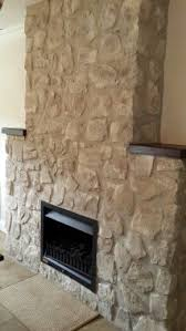 stone fireplace painted in annie sloan