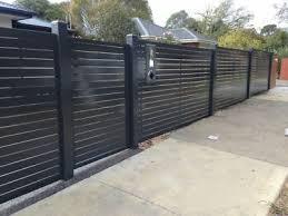 Ar Aluminium Slat Fence Powder Coated Slat And Post Post Caping Included Ebay