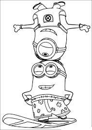 Kids N Fun Kleurplaat Minions Minions 27