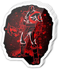 Amazon Com Cool Sticker 3 Pcs Pack 3x4 Inch God Of War Ghost Of Sparta Game Video Stickers For Water Bottles Laptop Phone Teachers Hydro Flasks Car Home Kitchen