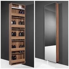 igma mirrored rotating shoe storage